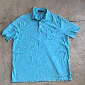 Polo Ralph Lauren s/s golf shirt pocket large blue